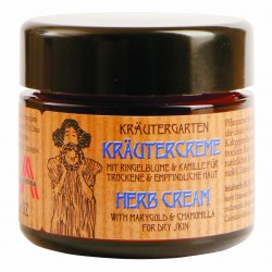 Herb cream for dry skin